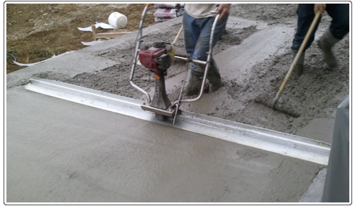 D roulement d 39 un chantier de sousa dallages for Dalle beton finition quartz